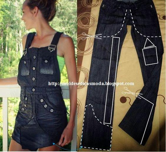 PANTALONES VAQUEROS DE RECICLAJE - 2 ~ Moda y Costura Consejos: