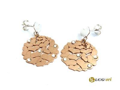 Orecchini in argento 925 tanti cuoricini in rose. Maggiori Informazioni WWW.LCGORI:COM