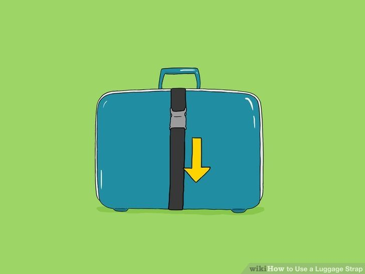 How to use a luggage strap?