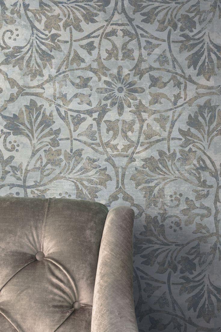 Tapete Bonita Blau Mittelalterliches Design Mit Der