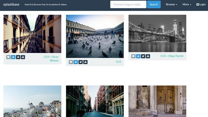 Splashbase, buscador de imágenes gratuitas