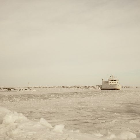 Ferry arriving to Kökar in mid-vinter, in the archipelago of Åland, Finland. #discoverarchipelago #archipelago #aland #finland #sea #landscape #nature #winter #ice #ferry #freezing #snow #traveling #day #wanderlust #trip #igtravel #igdaily #photooftheday #adventure #white
