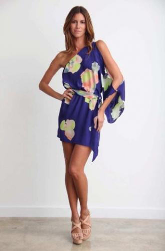 One Shoulder Mini DressMinis Dresses, Karina Grimaldi, Shoulder Minis, Minis Dog Qu, One Shoulder, Blue Flower, Grimaldi Kim, Style File, Fashion Boutiques