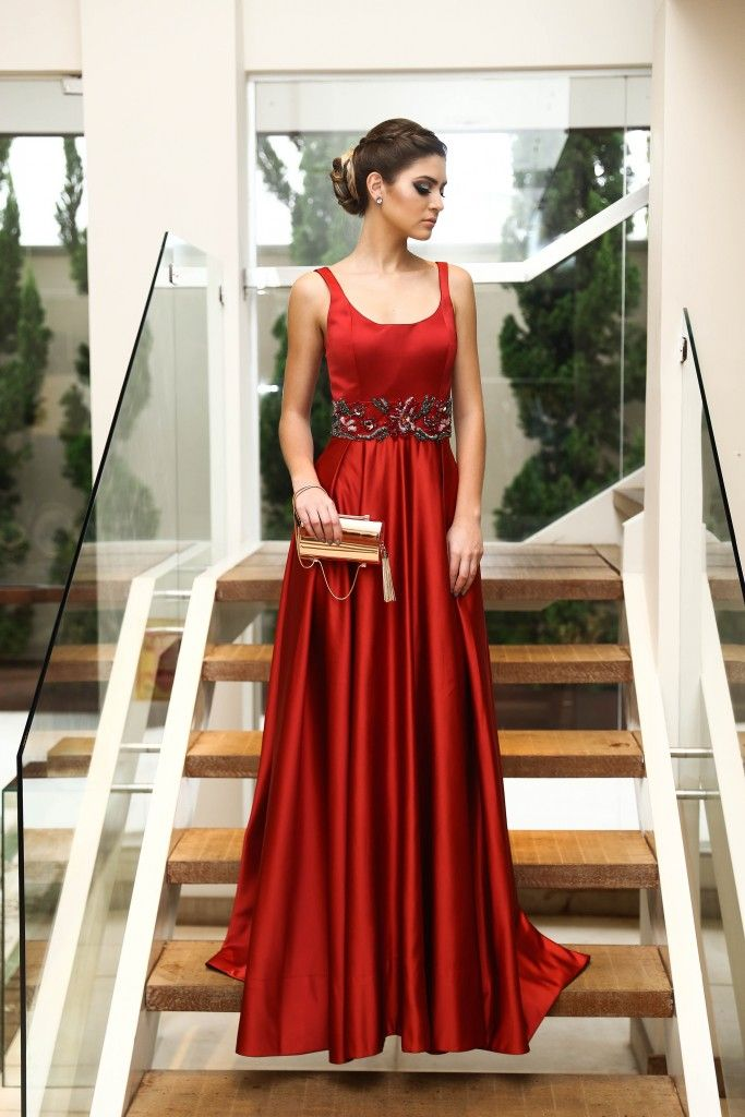 vestido de festa vermelho madrinha