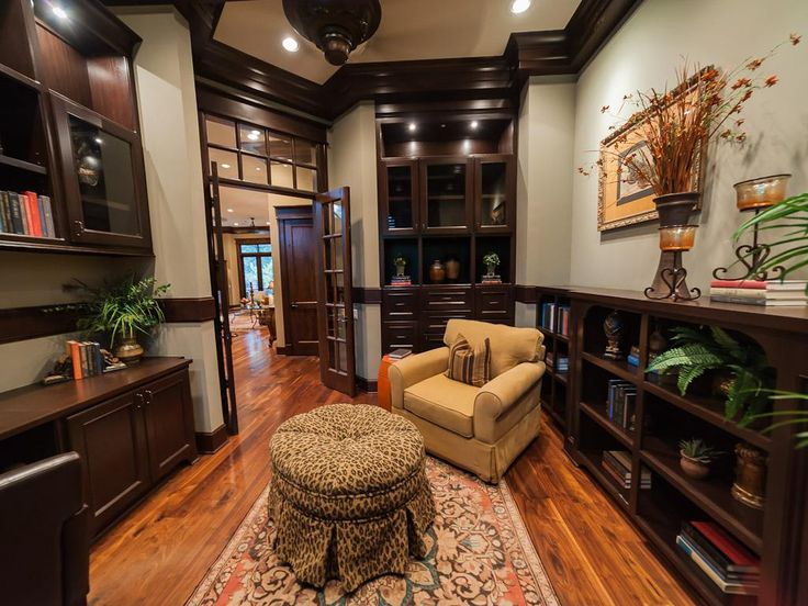 Study/home office. Located just off the grand entrance. Custom ...