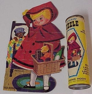 I had this whole set of puzzles.Hoods Puzzles, Red Riding Hood, Warped Childhood