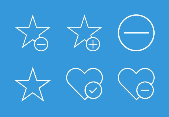Modern UI Vector Icon Set 2 of 3 (25 icons) for Sale