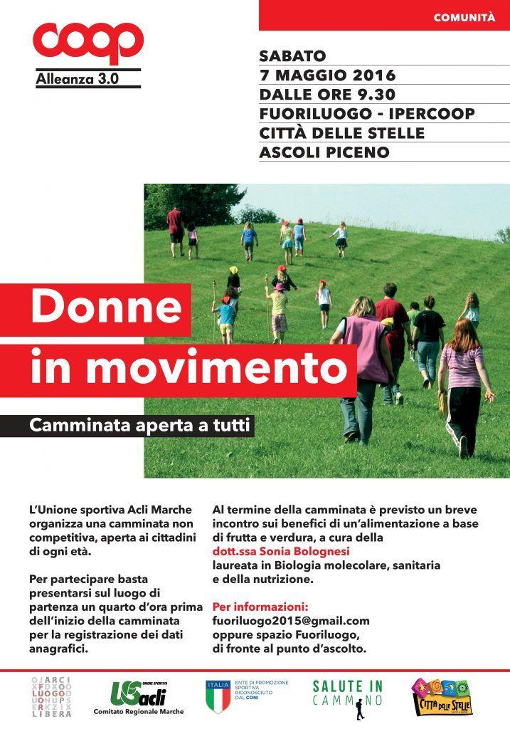 Donne in movimento il 7 maggio ad Ascoli Piceno