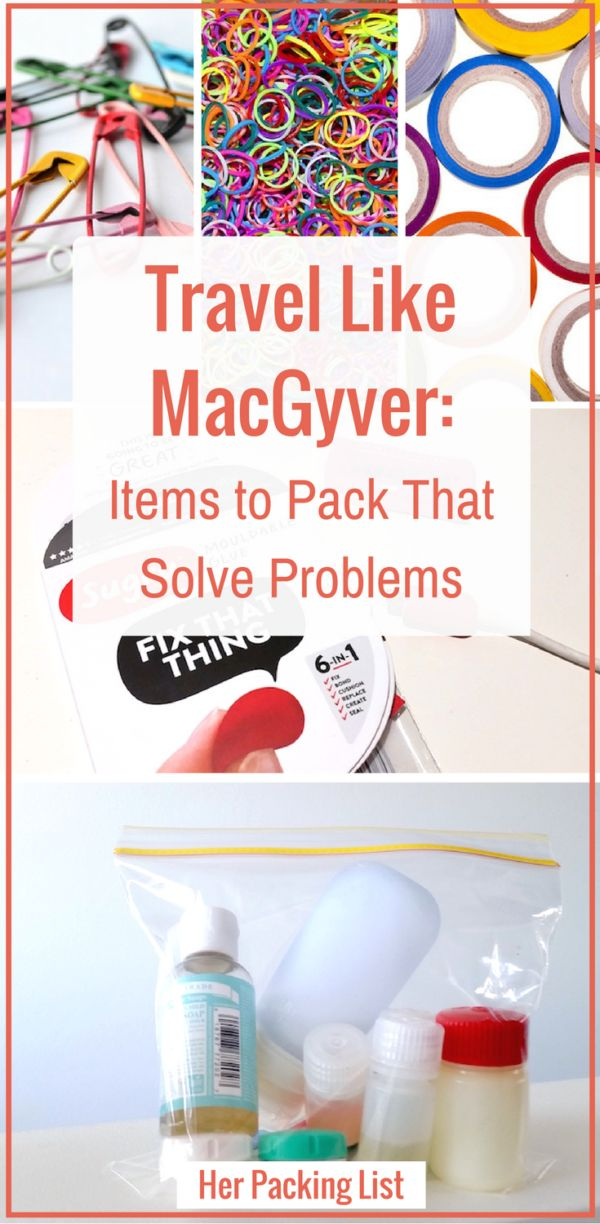 It's the little things! They can get you out of a bind and prove invaluable on the road. Travel like MacGyver -->