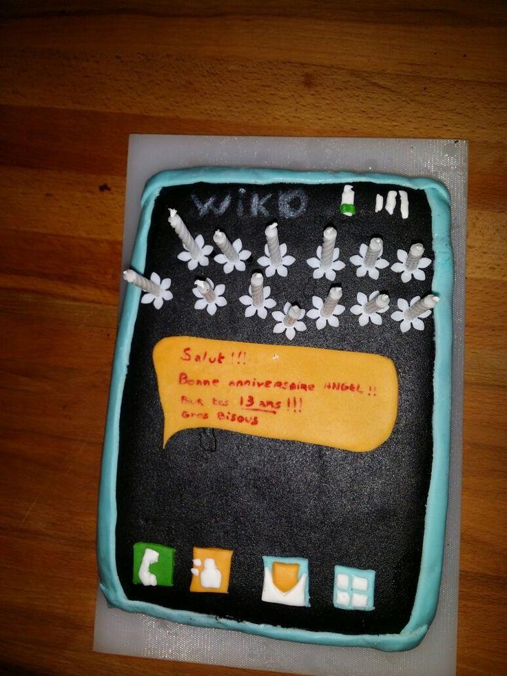 Gâteau anniversaire  13 ans