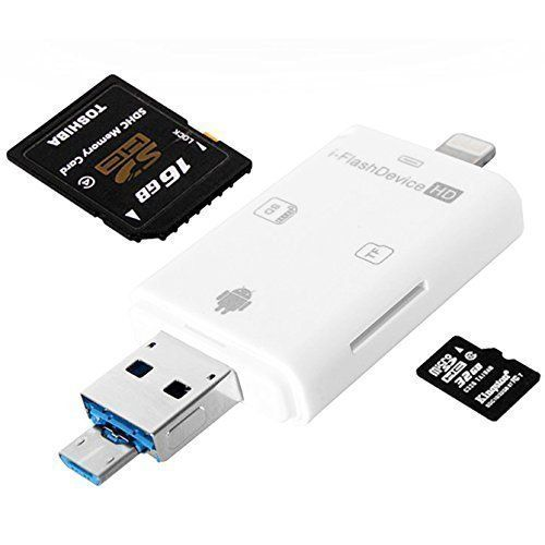 card reader for iphone wecodo lightning iflash usb sdhc micro sd otg card reader 3997