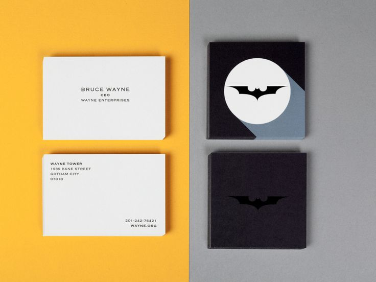 Bruce and bats. Class and crook catching in the form of some special Business Cards.