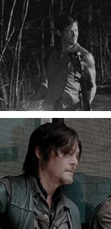 Daryl Dixon smiling gif, The Walking Dead