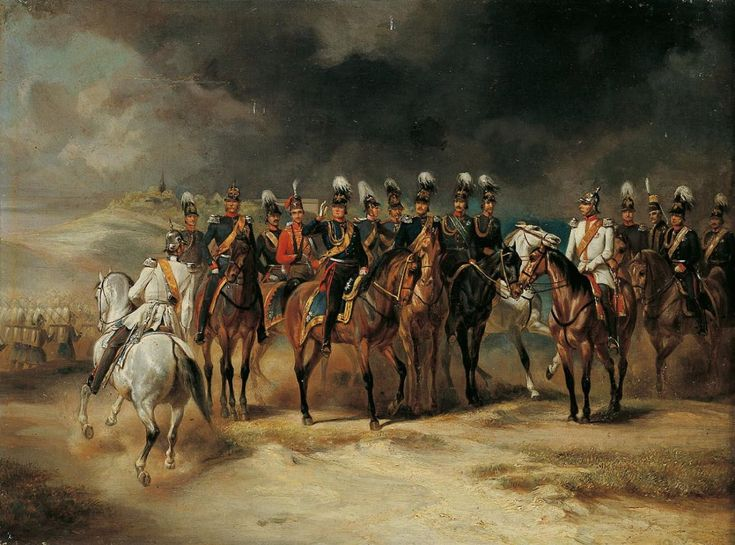 Military scene from the Franco-Prussian War