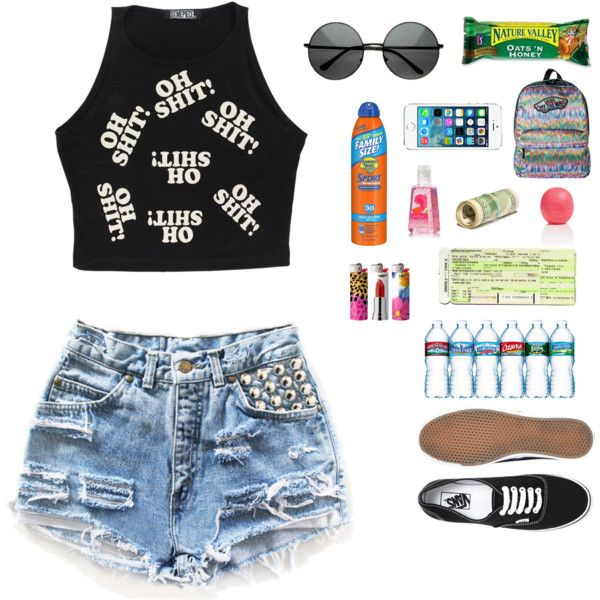 Warped Tour outfit // What to bring to Warped  by kelseypatterson on Polyvore