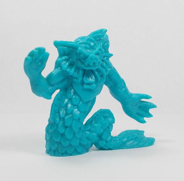Monster In My Pocket - Series 2 - 65 Merrow - Neon Blue