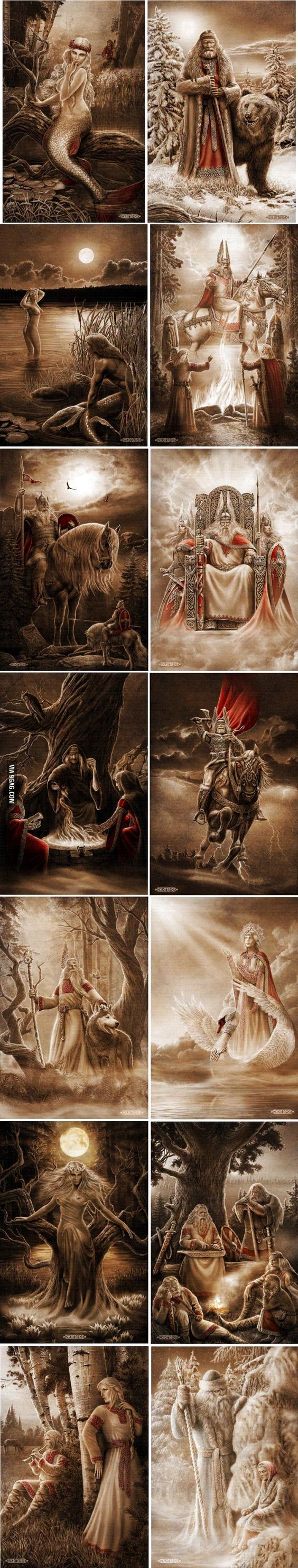Slavic mythology is f**king badass. By Igor Ozhiganov: