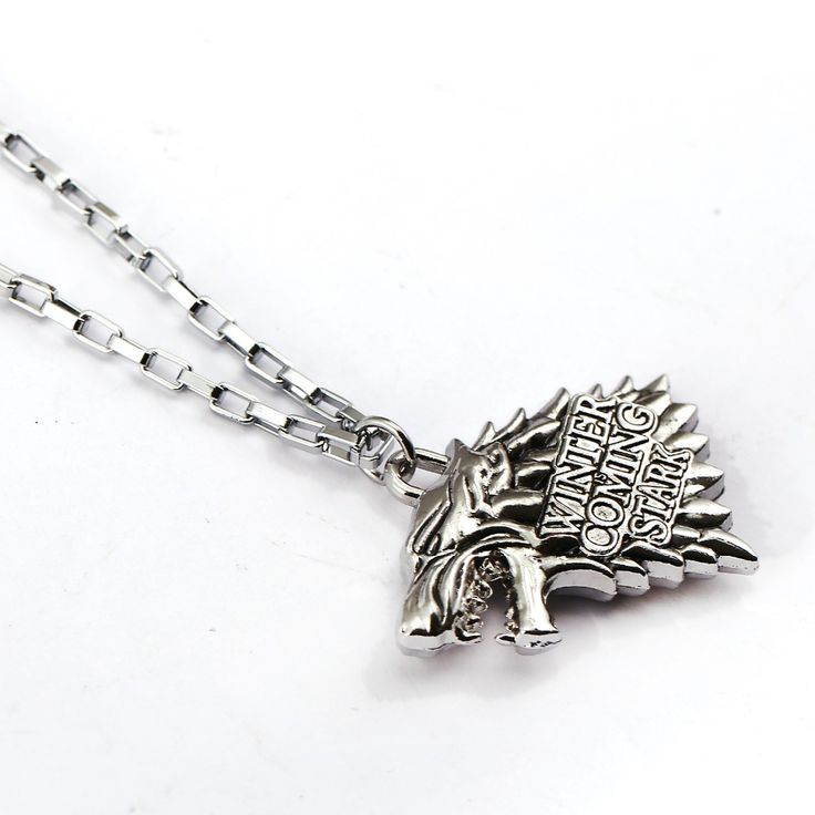 Gothic Movie Game of Thrones Pocket Watch Necklace Steampunk Men Body Chain House of Stark Black Wolf Pendant Game Jewelry