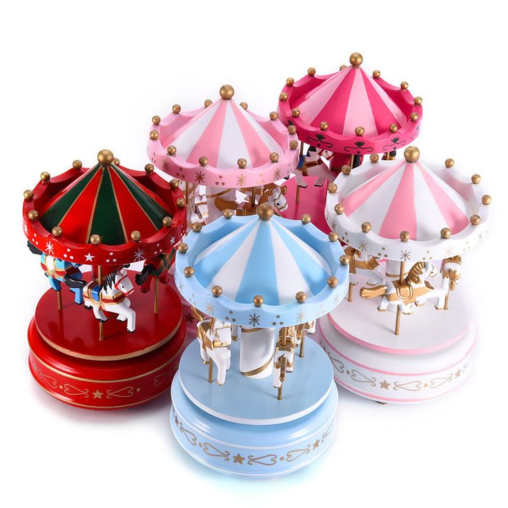 Colorful Horse Carousel Music Box Toy Led Light Clockwork Musical Toys Xmas Gift #Unbrand