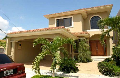 30 dise os construidos de fachadas de casas de dos plantas - Casas de dos plantas sencillas ...