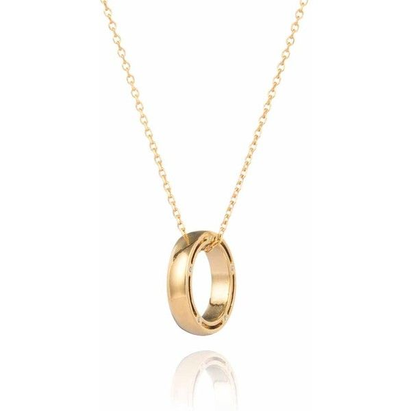 Gold Chain Necklace At Pinstripe & Pearls: Eternity Ring ($76) ❤ liked on Polyvore featuring jewelry, necklaces, white gold pearl pendant, gold pearl necklace, chain necklace, yellow gold necklace and pendant necklace