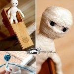 Story Time and Kids DIY Egyptian Mummy gymnast Play Doll.  Film kijken en dan knutselen: Een Egyptische Buigbare MummiePop maken. Leuk om te maken na het kijken van de film Dummie de mummie!