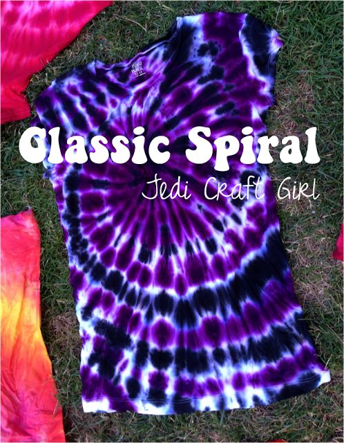 Jedi Craft Girl: Tie-Dye 101 {the classic spiral|}