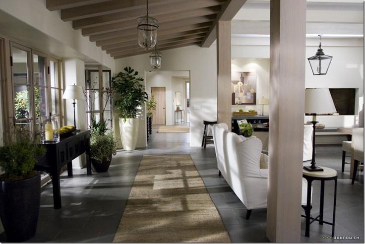 Modern hacienda, adore the light fixtures!