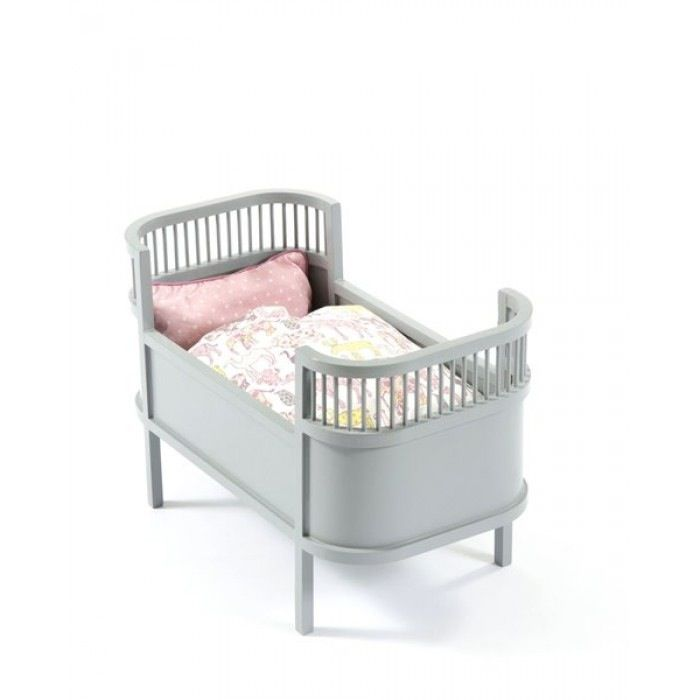 SMALLSTUFF Rosaline Doll's Cot Grey