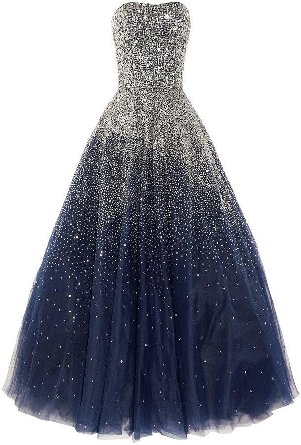 OMG!!!! MINE!! MINE!! MINE!!    Marchesa Sequined strapless silk tulle gown