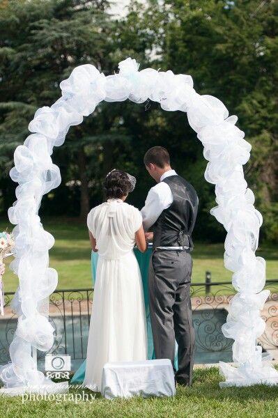 Diy decorate wedding arch-7085