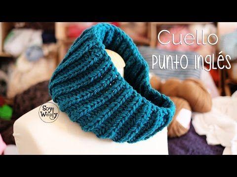 Cómo Tejer BUFANDA PUNTO INGLÉS-REVERSIBLE-BRIOCHE STITCH SCARF 2 Agujas (365) - YouTube