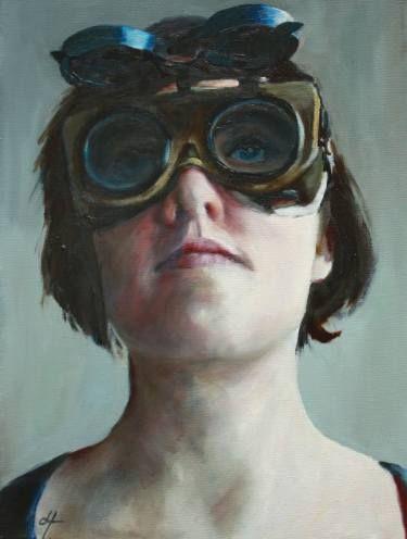 "Saatchi Art Artist Danielle ter Hofstede; Painting, ""Veiled V"" #art"