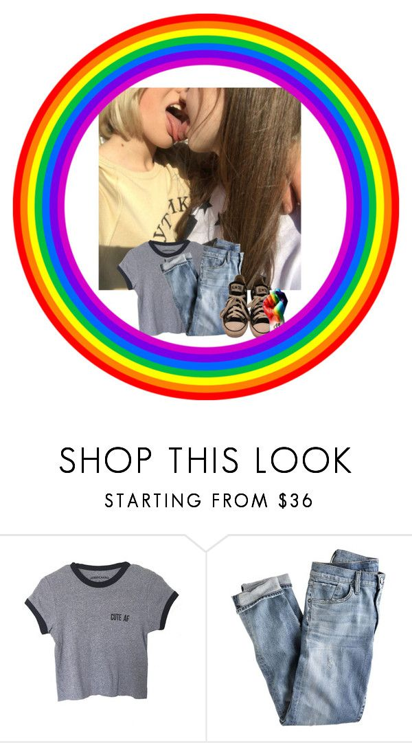 """""""lgbtq community unite!!!!"""" by monsterorcoffee ❤ liked on Polyvore featuring J.Crew and Converse"""