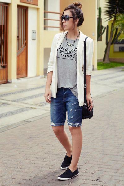 Best 20  Bermuda shorts ideas on Pinterest | Modest summer outfits ...