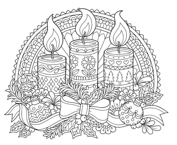 Рождественская открытка рисунок для раскрашивания, открытка подруге
