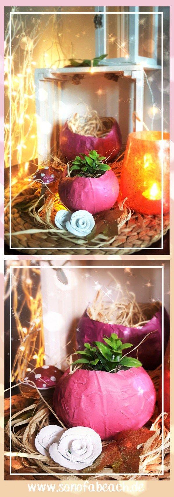 Herbst DIY - Ich zeige euch, wie ihr mit einfachen Mitteln einen wunderschönen Kürbis für eure Herbstdeko Selbermachen könnt.