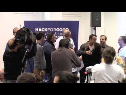 HACKFORGOOD CANARIAS 2016. ENTREGA DE PREMIOS LOCALES. El HackForGood Canarias 2016 se celebró en el Espacio polivalente del Campus del Obelisco, del 25 al 27 de febrero de 2016.