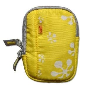 gelbe modische Kompaktkamera Kameratasche