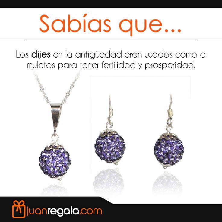 Sabias que... los Dijes Eran Usados En La Antigüedad como Amuletos Para Tener Fertilidad y Prosperidad. -- JuanRegala.com