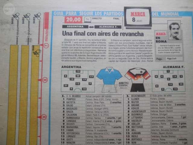 DIARIO MARCA  FINAL MUNDIAL ITALIA 1990 - foto 9