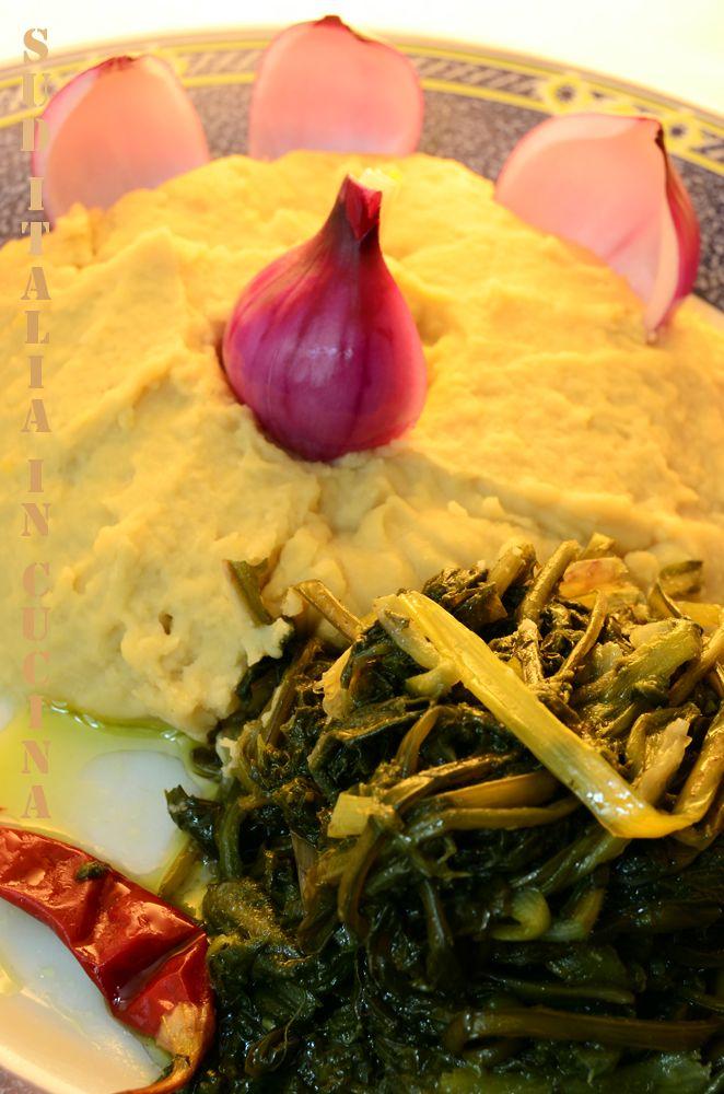 Fave e Foglie o Fave e Cicorielle selvatiche - L'altro piatto con cui si identifica la Cucina Pugliese Tradizionale - http://blog.giallozafferano.it/suditaliaincucina/?p=4277 #cucinapugliese #faveefoglie #suditaliaincucina #ViemiaMangiareinPuglia