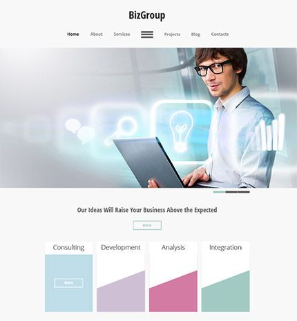 20 best html5 website templates images on pinterest for Best paid blogger templates