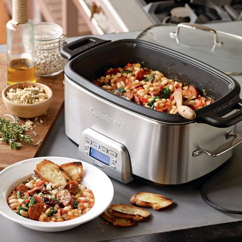 How can potatoes be cooked in a Cuisinart multi-cooker?