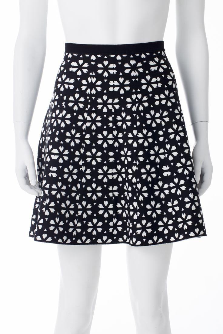 Jupe imprimés noirs et blancs, RW&CO, 79,90$ * Black and white printed skirt, RW&CO, $79.90