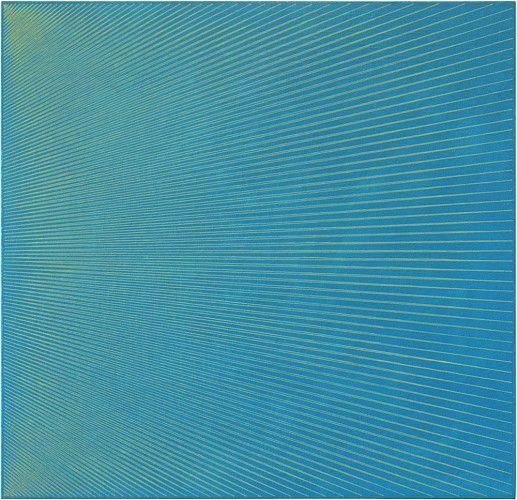 Sara Eichner, zig zag 2015, oil on linen over panel, 30 x 31 inches