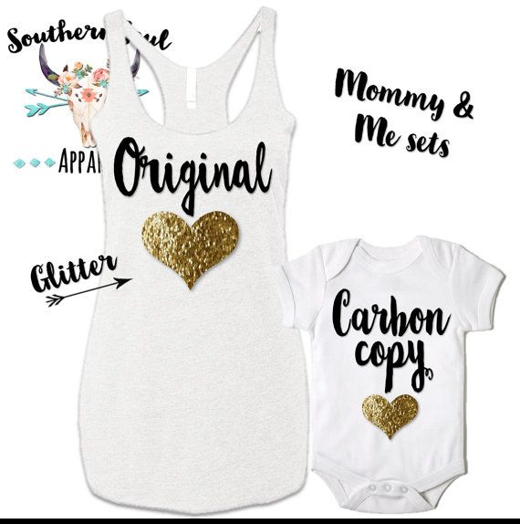 Original & Carbon Copy Glitter Mommy and Me by SouthernSoulApparel