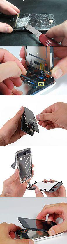 Как самостоятельно поменять разбитое сенсорное стекло в смартфоне, айфоне или на планшете своими руками в домашних условиях. Описание технологии замены разбитого стекла на смартфонах с наглядными фото