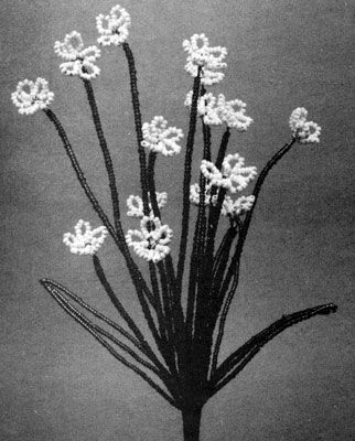 Baby's Breath bead flower pattern from Bead Flowers, originally published by Aleene.