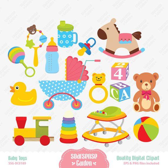 Baby Toys Digital Clipart